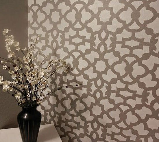zamira allover stencil - Design Stencils For Walls