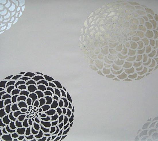 zinnia grande flower stencil