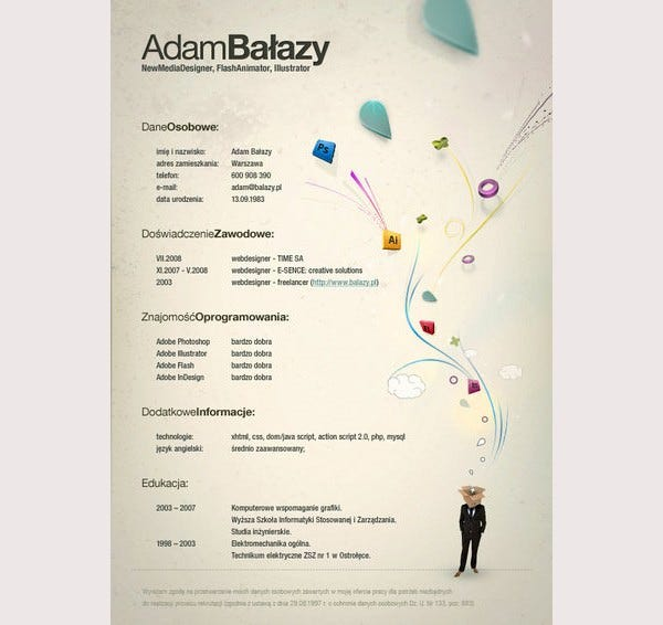 creative resume template  u2013 81  free samples  examples