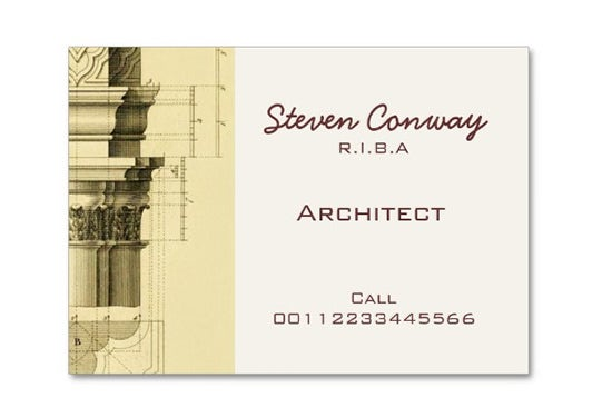 Architect Gothic Business Card
