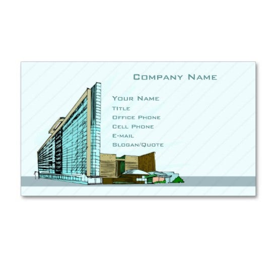 Architect Company 25+ best business cards for architects & constructors | free