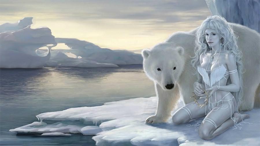 artwork 3d polar bears