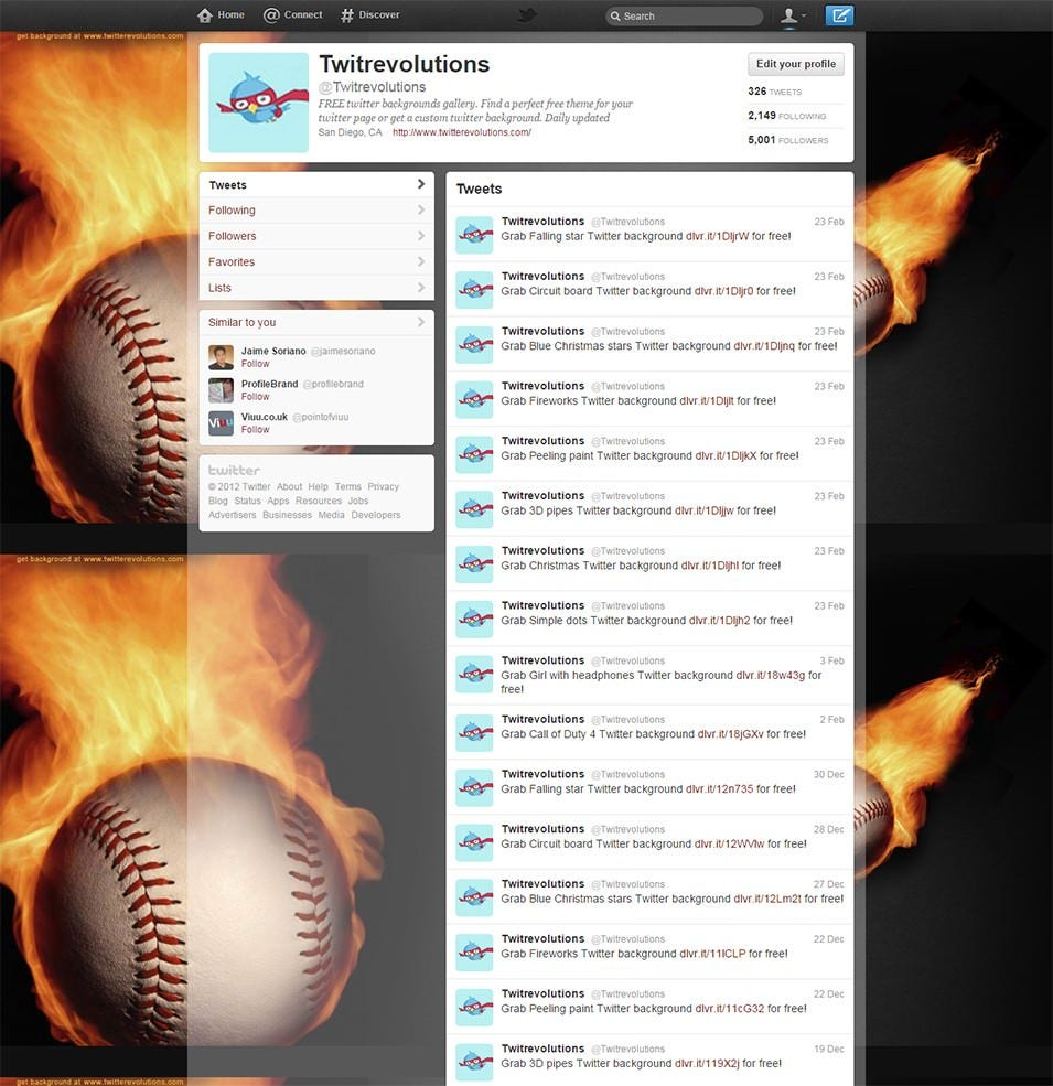 baseball twitter background