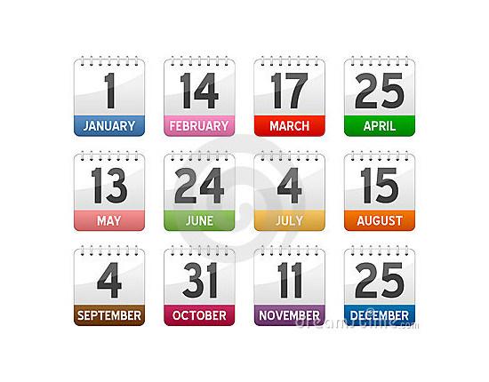 calendar icons set 4
