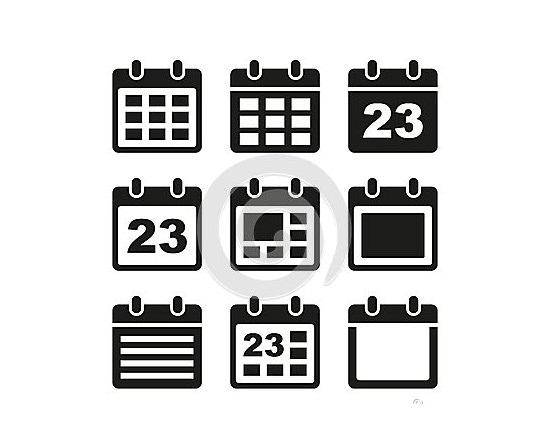 calendar icons set 61