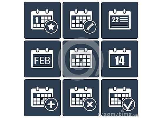 calendar icons set 8