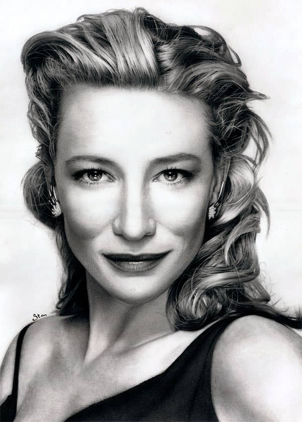 cate blanchett drawing