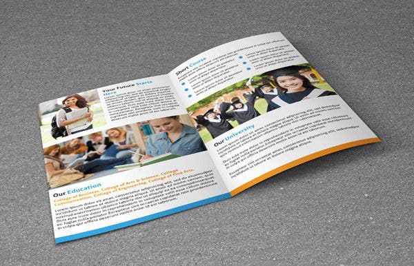 college brochure template download