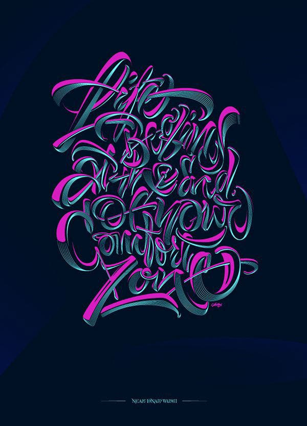 50+ Fabulous Typographical Art Designs That will Inspire You! | Free ...