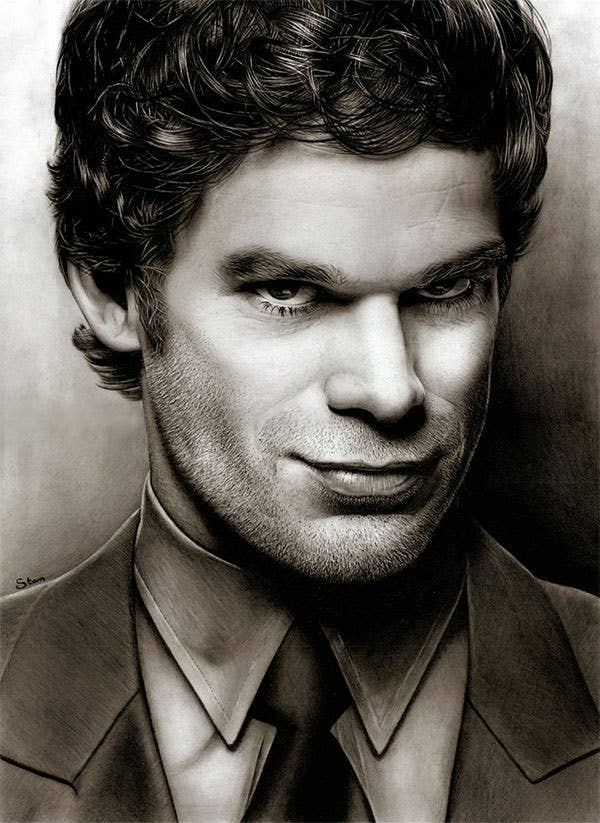 dexter morgan drawing