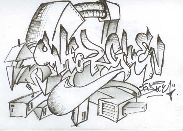 graffiti pictures in pencil 2
