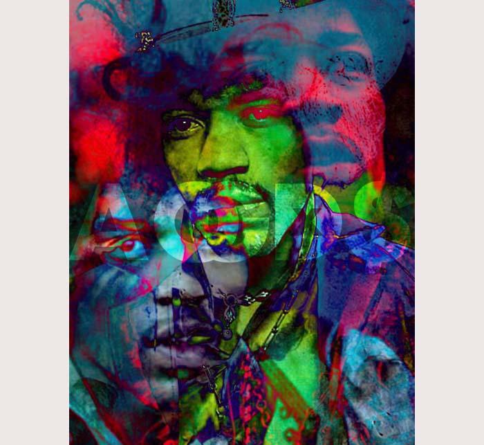 Hendrix Psychedelic Artwork