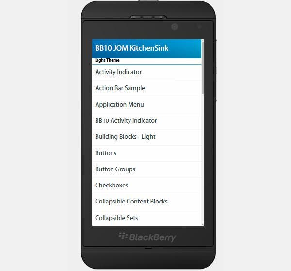 jquery mobile built for blackberry