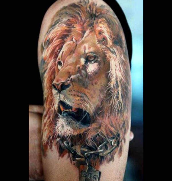 lion tattoo color