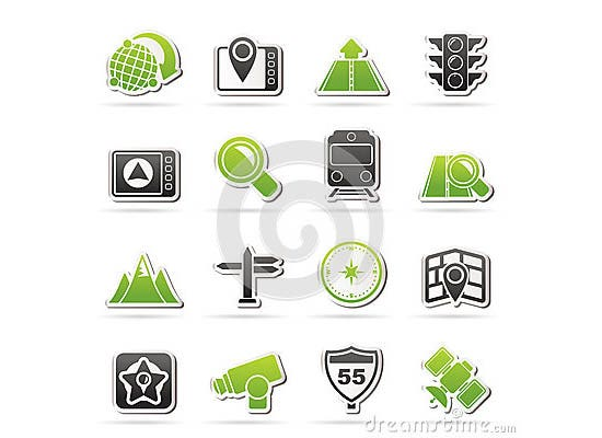 map navigation location icons