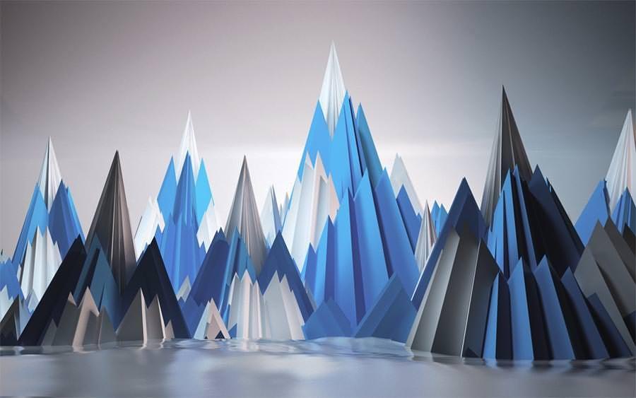 mountain artwork