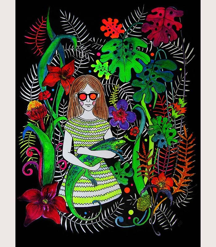psychedelic fluorecent artworks