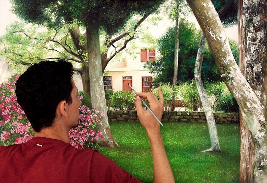 realistic_painting_backyard