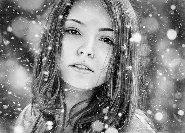 Photorealistic Pencil Drawing Pencil Drawings Free Premium