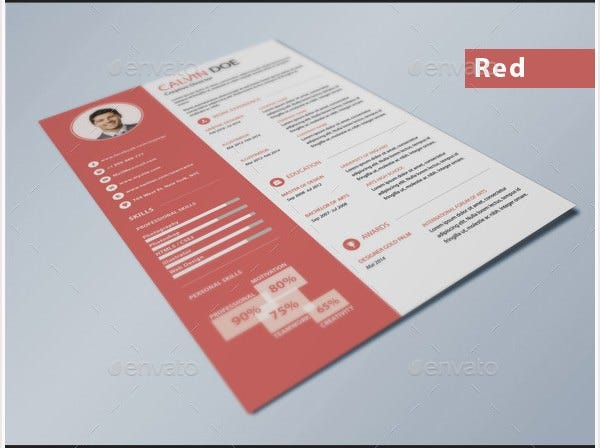 Simple Flat Design Resume