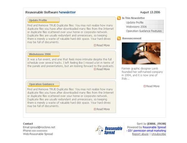 sofeware newsletter