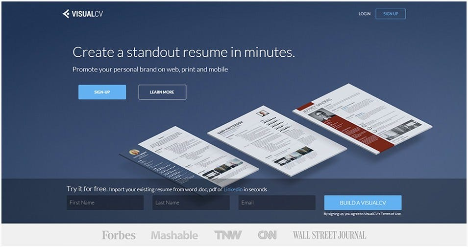 visualcv resume builder free demo - Resume Builder Online Free Download