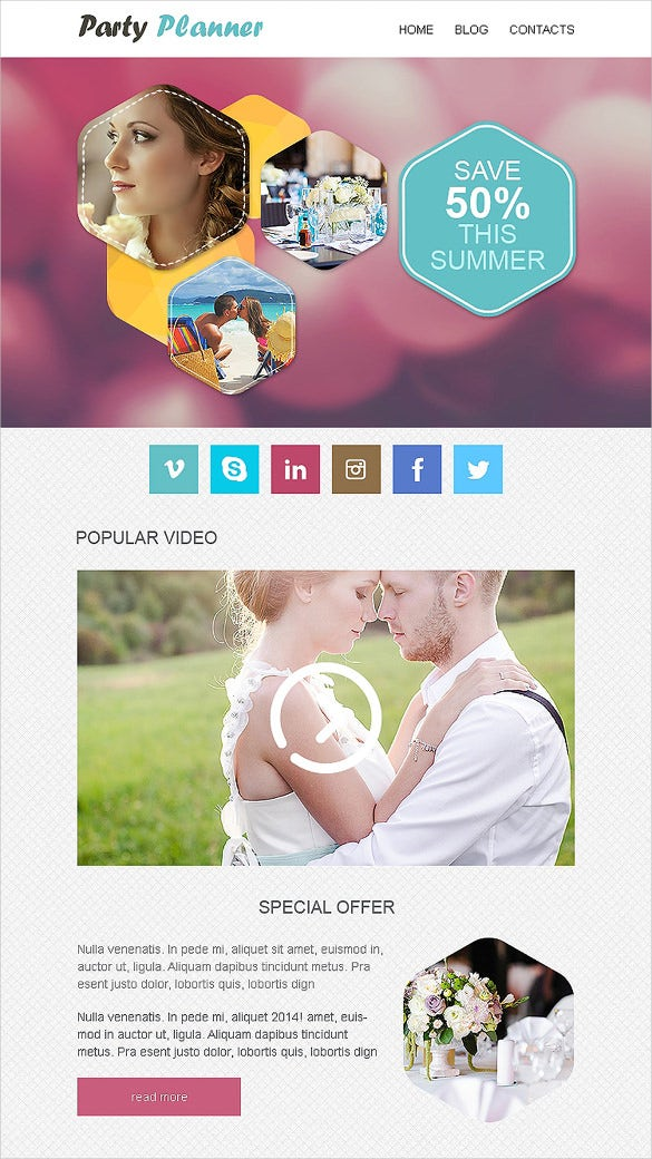 event planner responsive newsletter template1
