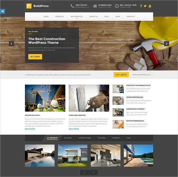 buildpress – wp theme for construction business