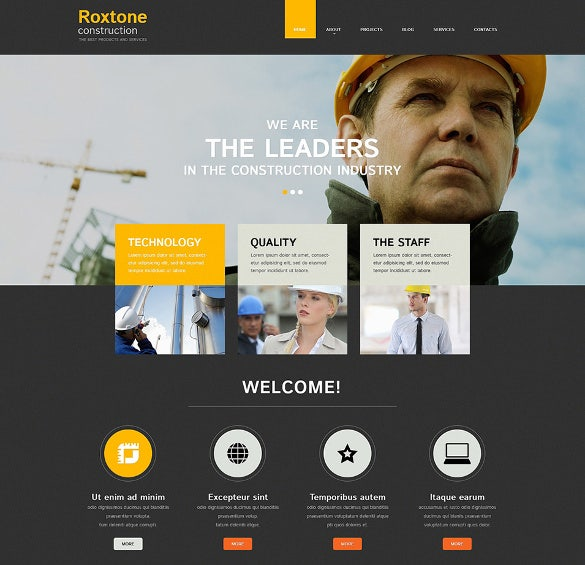 41 construction website themes templates free premium templates responsive construction company website template 28 accmission Gallery