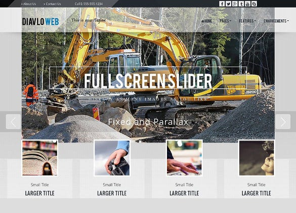 simple construction wordpress theme