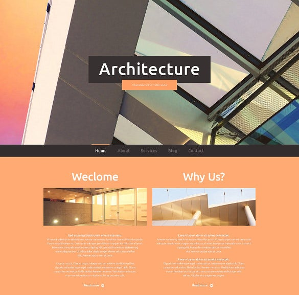 architecture construction company website template