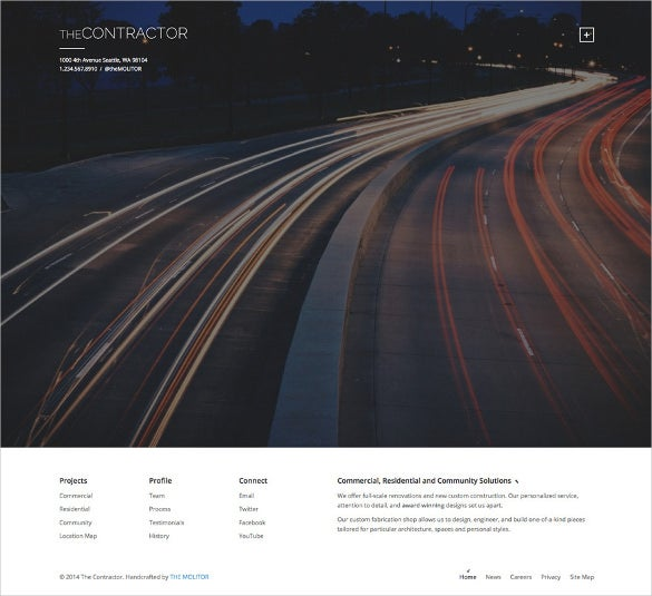 the contractor construction company wordpress theme