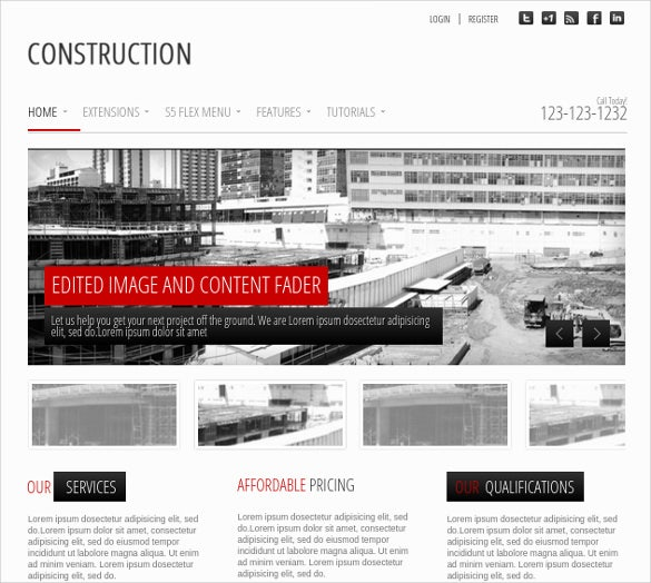 construction wordpress club website theme free demo