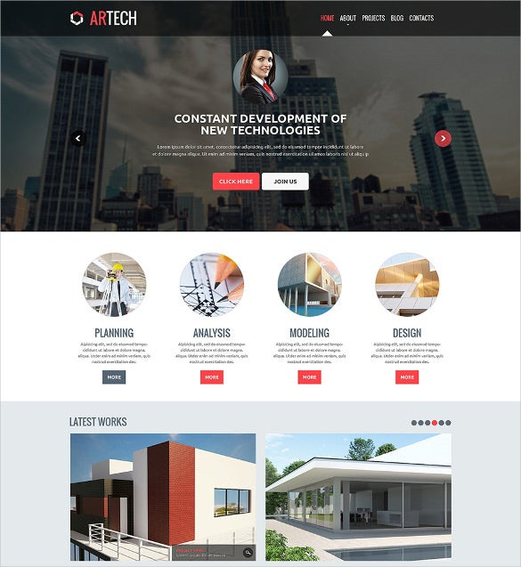 responsive website templates for construction company free download