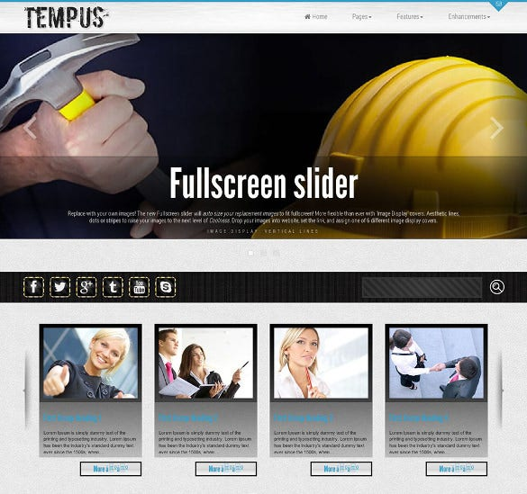 tempus responsive construction wordpress theme