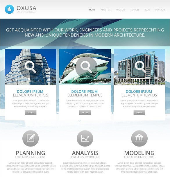 architecture company drupal template