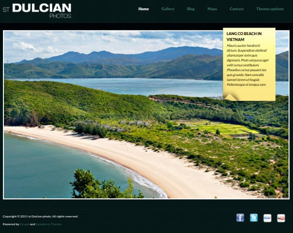drupal photography theme