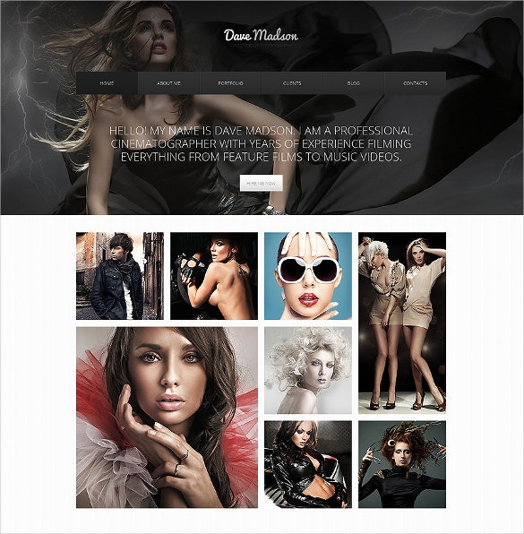 photography portfolio drupal template