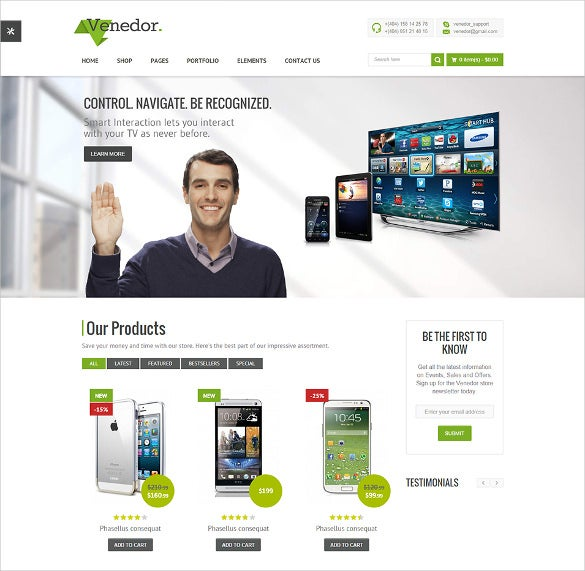 popular bootstrap ecommerce html5 template