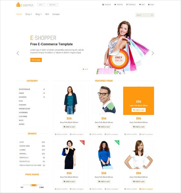 neat clean ecommerce theme free download