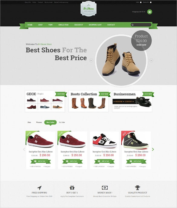 ECommerce HTML Themes Templates Free Premium Templates - Buy ecommerce website templates