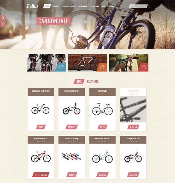 eye catching colors responsive ecommerce template
