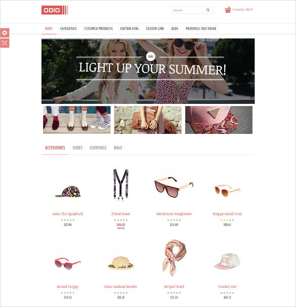 top zoom effects html5 ecommerce template
