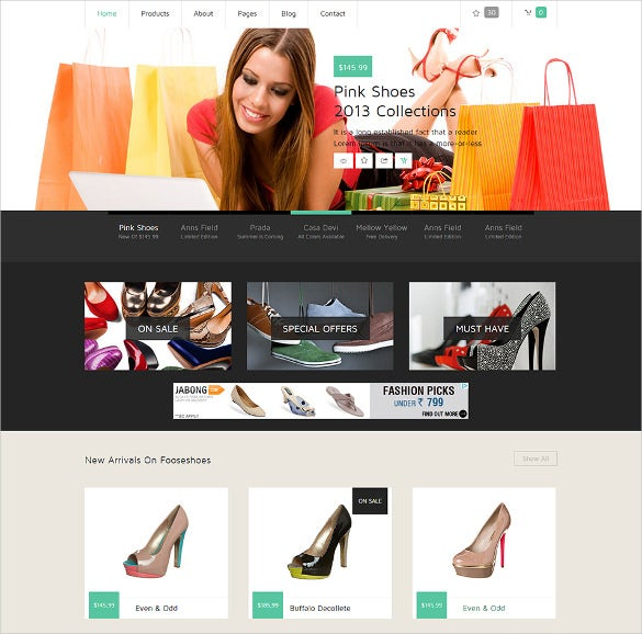 flat ecommerce responsive template free download