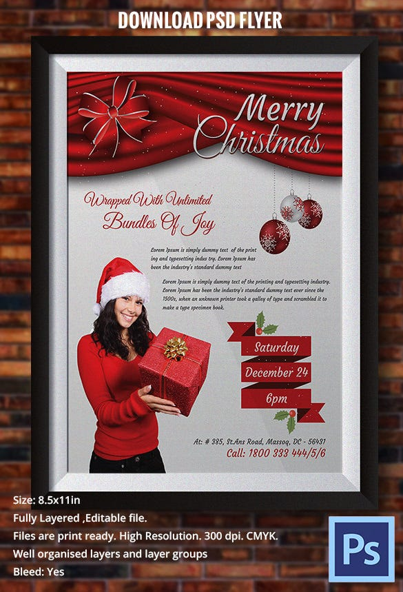 Red Christmas Flyer Template PDF Format