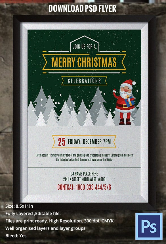 Vintage Style Christmas Flyer Template