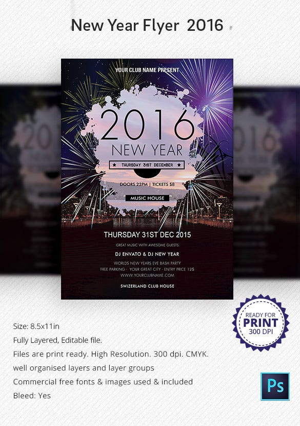 28+ New Year Invitation Templates – Free Word, PDF, PSD, EPS ...