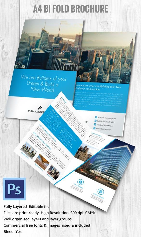 A4 Brochure For Engineer Constructor PSD