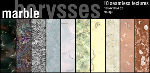 10 seamless marble textures