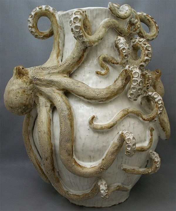 ceramic sculpture design octopus